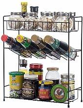 Ryyland-Home Spice Rack 3-Tier Spice Rack Holder