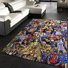 rzskdjgv Hip Hop Rap Party Carpet, 3D Area Carpet,