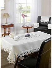 S.green - Tablecloth Lucinda 70' Rd. Cream