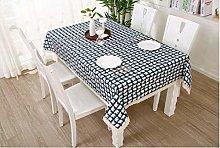 S&shan Manteles, Nordic cotton linen tablecloth