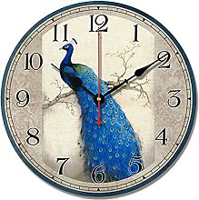 S.W.H Kitchen Wall Clock Peacock Non Ticking