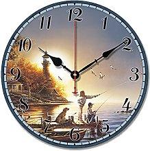 S.W.H Shabby Chic Wooden Round Clocks - Vintage