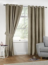 S W Living Linen Look Blackout Double Lined