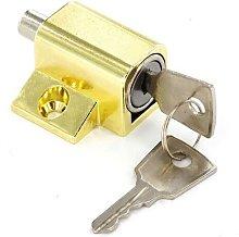 S1054 Window / Patio Door Lock Brassed Pack Of 1 -