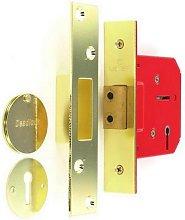 S1804 5 Lever Dead Lock Brass 63mm - Securit