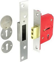 S1805 5 Lever Dead Lock Nickel Plated 63mm -