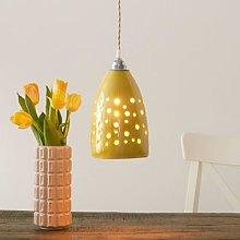 S1815 ceramic hanging lamp, yellow