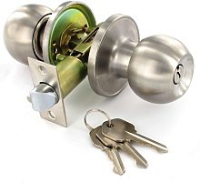 S2953 Stainless Steel Entrance Lock Knob Set 60 /