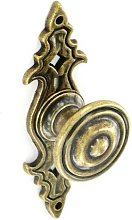 S3562 Antiquetique Cupboard Knob With Backplate