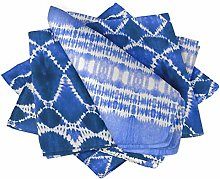 S4Sassy Blue Tribal Tie-Dye Holiday Parties Cloth