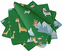 S4Sassy Green Flamingo & Animals Tribal Holiday