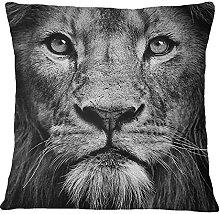 S4Sassy Lion Face Digital Print Decorative Black