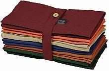 S4Sassy Multicolor Solid Home Decor 12 Pcs Cotton