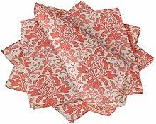 S4Sassy Orange Leaves & Damask Floral Cotton