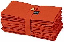 S4Sassy Orange Solid Home Decor 12 Pcs Cotton