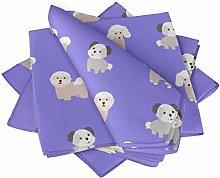 S4Sassy Purple Puppies Dog Tea Party Table Linen