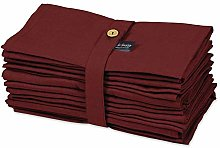 S4Sassy Red Solid Home Decor Re-Usable Napkin