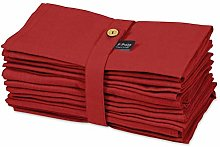 S4Sassy Red Solid Home Decor Tea Party Table Linen