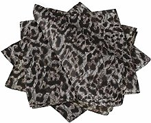 S4Sassy White Leopard Animal Skin Cotton Napkin