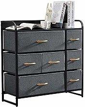 Saadiya Dark Grey Fabric Storage Drawer Units