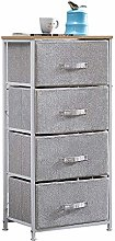 Saadiya Grey Chest of 4 Drawers Storage Cabinet