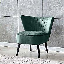 Saadiya Small Velvet Tub Chair Green Accent Chair
