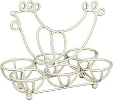 Sabastian Egg Holder Lily Manor Colour: White