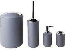Sabichi Grey Matte Bathroom 4Pc Accessory Sets