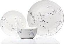 Sabichi Marble 12 Piece Porcelain Dinner Set