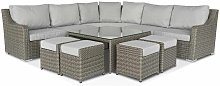 Sabine | Large Corner Sofa, Square Coffee Table