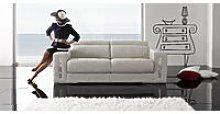Sabrina 2 Seater Italian Leather Sofa