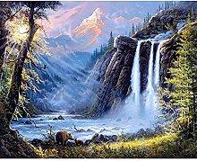 SADHAF 5D Diamond Embroidery Landscape Waterfall