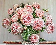 SADHAF 5D DIY Diamond Painting Flowers Cross