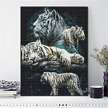 SADHAF Tiger 5D DIY Diamond Painting Cartoon