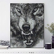 SADHAF Wolf 5D 100% Full Diamond Painting Cartoon