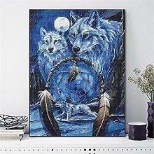 SADHAF Wolf New Full Diamond Paint Cartoon Diamond