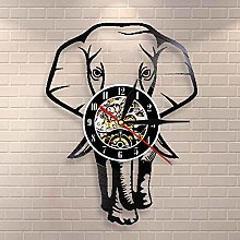 Safari Animal Elephant Vinyl Wall Clock,Vinyl