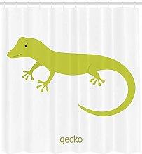 Safari Shower Curtain Australian Lizard Print for