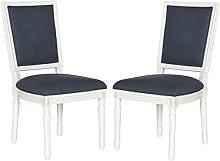 Safavieh Buchanan Rect Side Chair, Wood, Navy, Set