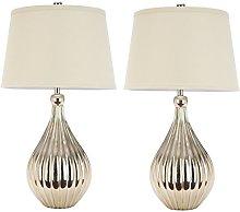 Safavieh UKL4012A-SET2 Brooklyn Gourd Table Lamp,