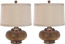 Safavieh UKL4016A-SET2 Caleb Table Lamp, Resin,