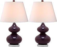 Safavieh UKL4086K-SET2 Eli Table Lamp, Glass, Dark