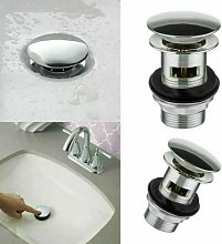 Safekom CHROME SLOTTED BASIN SINK TAP PUSH BUTTON
