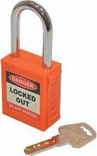 Safety Lockout Orange Key Padlock - 20MM - Matlock