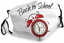 Safety Masks, Red Alarm Clock Ringing Back To
