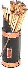 Safety Match Holder - Black & Copper Fireside