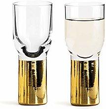 Sagaform Club Schnapps and Shot Glass Gold 2-Pack,