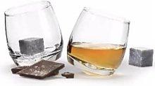 Sagaform - Set Of Whiskey Glasses With 2 Whiskey