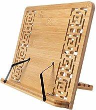 SagaSave Book Stand Bamboo Recipe Cookbook Holder