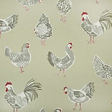 Sage Chickens PVC Oilcloth Wipe Clean Tablecloth
